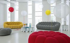 Bubble-Sofa by Sacha Lakic stylish, colourful and completely handmade- www.homeworlddesign. com (9) #sofa #design #furniture