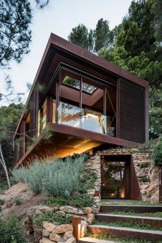 This Guest Pavilion is a Cuboid Placed in the Middle of the Forest 5