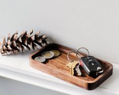 Walnut Catchall Valet Tray