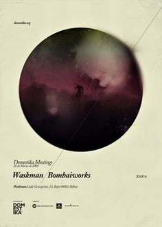 Domestika Meetings_Carteles 2009_Part 1 on the Behance Network #digital #design #art #poster