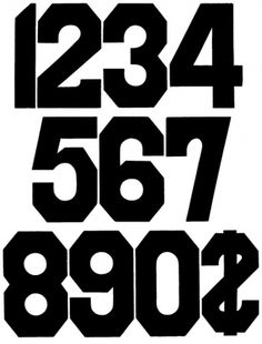 Rob Roy Kelly American Wood Type Collection | Gothic | Lineal | No 133 #numerals #numbers #wood type #rob roy kelly