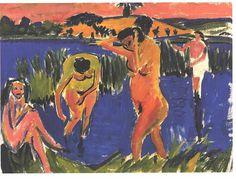 Ernst Ludwig Kirchner, Vier Badende