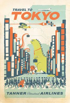 eric tan #illustration #tokyo #travel #poster