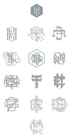 Types & Monograms on the Behance Network #monogram