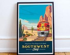 California Zephyr Train Poster Unframed | Etsy