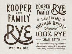 Rye #handstyle #whiskey #label