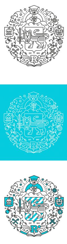 RESPUBLICA UNIVERSITY on Behance #logo #illustration