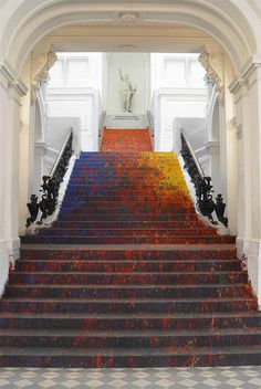 """napoleonfour: """"Audacious Artwork in Poland National Gallery Staircase """""""