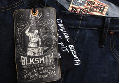 BLKSMTH is an amazing denim company owned and operated by denim legend himself, Loren Cronk. I was lucky enough to work with him on the iden #illustration #tag #contino #typography
