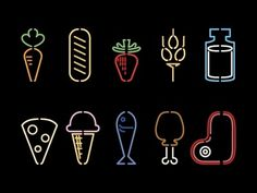 Dribbble - Food Pictograms by Jorge Mar