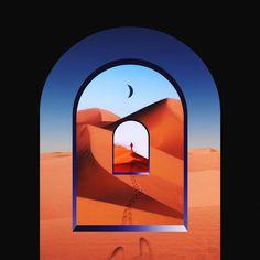 Un-used concept. Artwork by Quentin Deronzier #artwork #door #infinite #mesmerizing #cover
