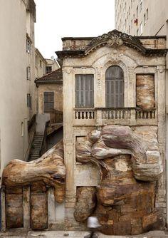 Henrique Oliveira: Casa dos Leões Thisispaper Magazine #installation