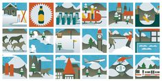 Monocle Alpino - 1 By Radio #print #design #graphic #snow #icons #illustration #monocle #winter