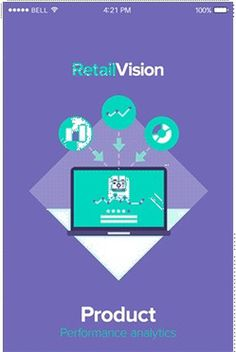 RetailVision // App & Illustration on Behance #flat #green #ux #icon #responsive #color #ui #app #mobile #purple #mac