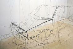 3D wire sculptures by fritz panzer
