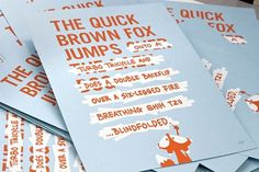 Looks like good Designer Cards by Ross Moody #fox #design #brown #quick #cards #typography