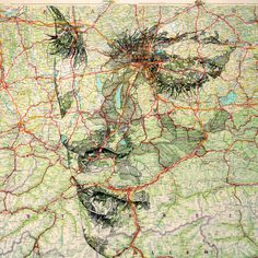 Deutschland #ink #travel #maps #portrait