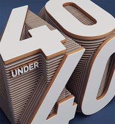 40, numbers, inspriation, typography