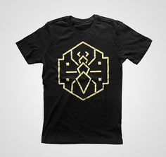 Ant XS S M L XL by consumecreate on Etsy #icon #design #tshirt #black #gold #ant