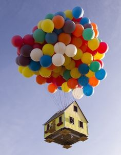 Disney-Pixar's Balloon House comes to life #installation