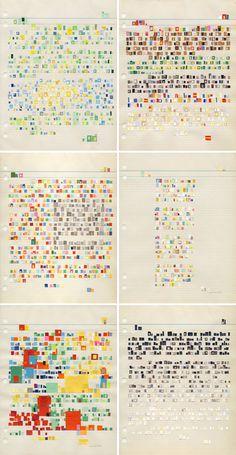 Letter Collages by Catalina Viejo Lopez de Roda