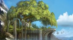 random stuff by ~Tonyholmsten on deviantART #illustration #fantasy #tree