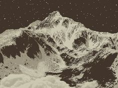 Snowblinded™ - Elk Peak Screen Print #mountain #cozzi #print #denver #colorado #anthony #poster #art #snowblinded