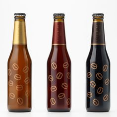Coffee Beer bottle stickers by Nendo #packaging #coffee #beer #bottle