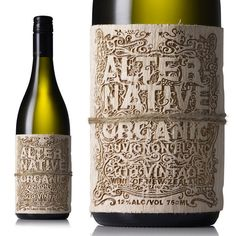 Absolutely beautiful, ornate, laser cut wine bottle label #packaging #wine #bottle #laser #cut