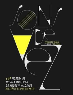 Vogue - Sons de Vez #design #graphic #poster #typography