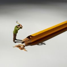 Office Life - Small People #photography #miniature #figures