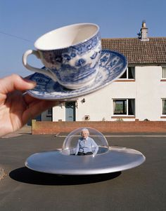 """le-dilemme: """" edithshead: """" Mrs. Lishman and her Flying Saucer Beale, Northumberland photo by Tim Walker """" me """""""