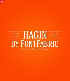 Hagin Free Font on Typography Served #font #typography