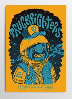 GigposterTruckfighters #music #gigposter truckfighters