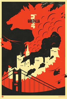 GODZILLA IMAX Fan Art Movie Poster Grand Prize WInner on Behance #flat #movie #design #illustration #poster #art #fan #godzilla