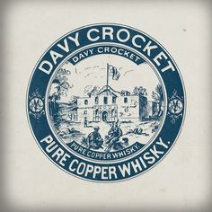 Expresh Letters Blog: Davy Crocket Whiskey #logo #label #vintage #branding