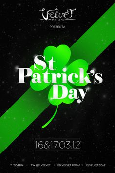 St Patrick's Day Flyer #green #classy #flyer #design #black #poster #elegance #fashion #party