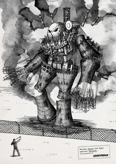 Greenpeace: Become David, 3 | Ads of the World™ #illustration #advertising #anatolij pickmann