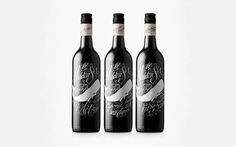 awesome #packaging design from Johan Contino #bottle #nautical #whale #typography #wine