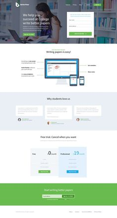 BF - Landing Page by Greg Dlubacz #flat #page #ui #website #landing