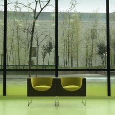 Media Tic Barcelona, Enric Ruiz Geli, STUA #jon #design #mediatic #nube #ruiz #geli #barcelona #armchair #gasca #stua #green