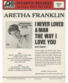 3/1967 Atlantic Sales Fact Sheet - Photos - Atlantic Records #grotesque #atlantic #american #typographz #records
