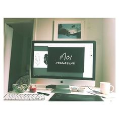 #office #setup for today — workin on a little somethin with my love @iamkenza @moimagazine #moi #web #moimagazine #comingsoon