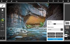 Adobe Photoshop Touch | The new tablet app for creative photo editing #ipad #design #interface #ui #app #photoshop