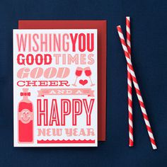 Typographic Christmas Cards on the Behance Network