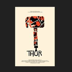 FFFFOUND! | Olly Moss - THOR! I was commissioned by Craig Kyle and Kevin... #movie #moss #olly #poster