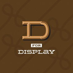 Wide Display font family on the Behance Network