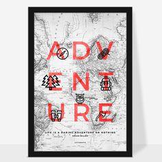 ADVENTURE #typography #cleverdesign #design #sanserif #focusonthegood #focus #good #goodvibe #postive #poster #wallart #letternote #life #yo