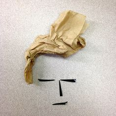 broken fork, napkin #face #design