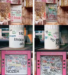 Mathieu Tremblin's [FR] brilliant 'Tag Clouds' series turning graffiti legible